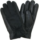 Isotoner Men's Wool and Leather Gloves, Xlarge