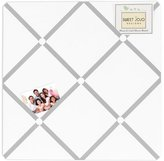 JoJo Designs Gray and White Diamond Fabric Memory/Memo Photo Bulletin Board by Sweet
