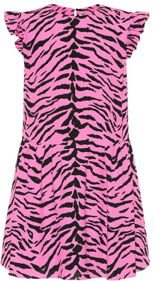 Saint Laurent Zebra-print crepe minidress