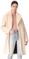 Carven Faux Shearling Coat