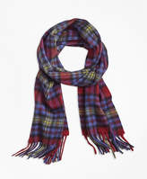 Brooks Brothers Plaid Cashmere Scarf