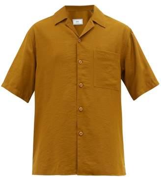 Ami Cuban-collar Poplin Shirt - Mens - Bronze