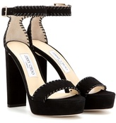 Jimmy Choo Holly 120 Platform Suede Sandals