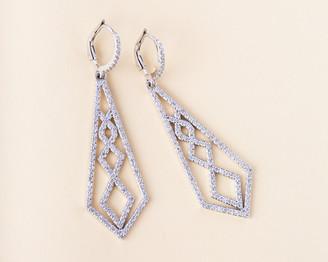 Vivrelle Diamond Shaped Chandelier Earrings