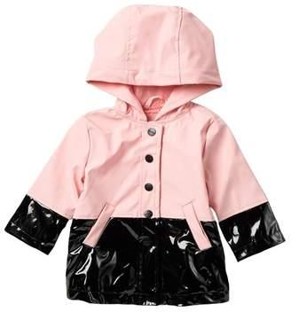 Urban Republic Colorblock Raincoat (Baby Girls)