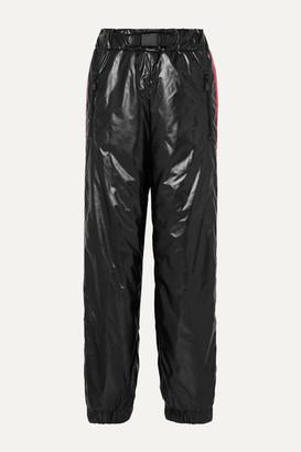 Moncler Striped Glossed Straight-leg Ski Pants - Black