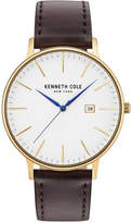 Kenneth Cole New York Kenneth Cole Men's Brown Leather Strap Watch 42mm KC15059005