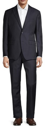 Saks Fifth Avenue Traveller Modern-Fit Check Wool Suit