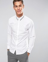 Selected Longsleeve Slim Shirt With Tipped Collar