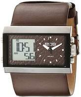 EOS New York Unisex 202SBRN Contrast Analog-Digital Watch