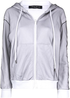 Frankie Morello Drawstring Zip-Up Hoodie