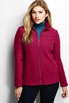 Red Boiled Wool Jacket - ShopStyle
