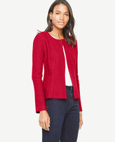 Ann Taylor Petite Boiled Wool Peplum Jacket