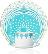 B by BrandieTM Fiji 5-Piece Place Setting in Turquoise/Gold