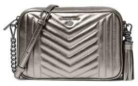 MICHAEL Michael Kors Logo Leather Crossbody Bag