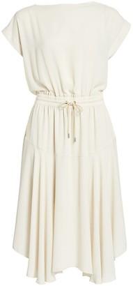 ATM Anthony Thomas Melillo Dolman-Sleeve Blouson Handkerchief Dress