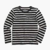 J.Crew Boys' long-sleeve pocket T-shirt in nautical stripe
