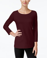 Charter Club Three-Quarter-Sleeve Top, Only at Macy's