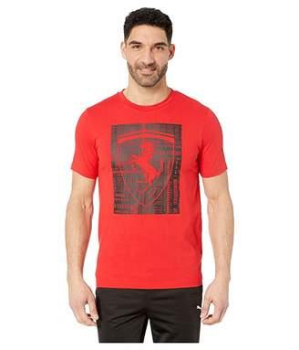 Puma Ferrari Big Shield Tee (Rosso Corsa) Men's T Shirt