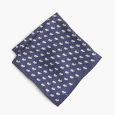 J.Crew Silk pocket square in rabbit print