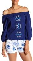 Tommy Bahama Mariana Off-the-Shoulder Front Embroidered Blouse
