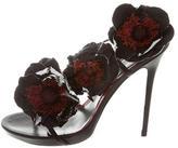 Alexander McQueen Floral Embellished Slingback Sandals