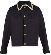 Wales Bonner Syms embellished denim jacket