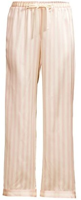 Morgan Lane Silk Striped Pajama Pants