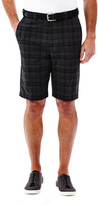 Haggar Cool 18 Madras Plaid Short - Straight Fit, Flat Front, Expandable Waistband