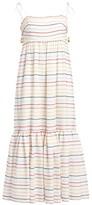 Zimmermann Zinna Scalloped Striped Midi Maxi Dress