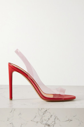 Alexandre Vauthier Amber Ghost Leather And Pvc Slingback Sandals - Red