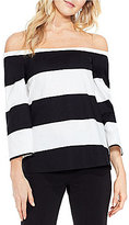 Vince Camuto Camden Bold Striped Off the Shoulder Blouse
