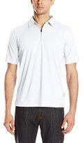 Woolrich Men's Modern Fit Bowline Half Zip Polo Shirt