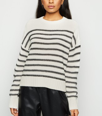 New Look Petite Stripe Crew Neck Jumper