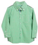 Rockin' Baby Long Sleeve Checkered Button Shirt in Green