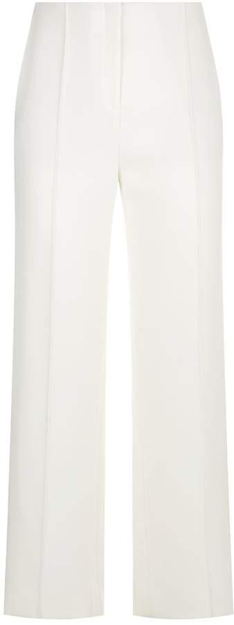 Diane von Furstenberg Cropped Side Stripe Trousers