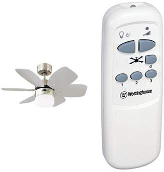Westinghouse Flora Royale Ceiling Fan, Satin Chrome with Infrared Remote Control, White