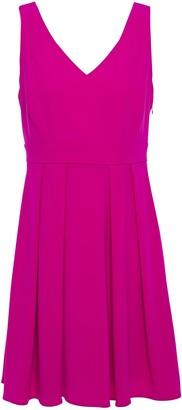 Claudie Pierlot Bow-embellished Pleated Crepe Mini Dress