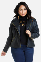 Fashion to Figure Mika Studded Faux Leather Jacket