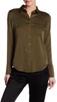 The Kooples Button Up Silk Blend Shirt
