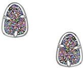 Kendra Scott Hazel Stud Earrings in Multi-Color Drusy