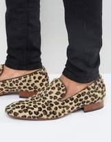 Jeffery West Yung Leopard Smart Loafers