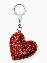 Kate Spade Glitter heart keychain