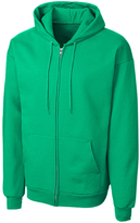 Clique Kelly Green Fleece Zip-Up Hoodie - Unisex