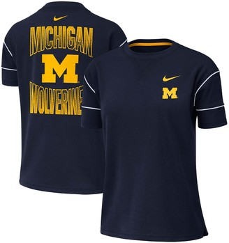 Nike Women's Navy Michigan Wolverines Double Knit Fashion Performance T-Shirt