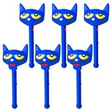 Educational Insights Pete the Cat Puppet-on-a-Stick, Party Pack of 6