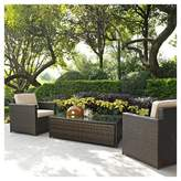 Crosley Palm Harbor 3pc All-Weather Wicker Patio Seating Set