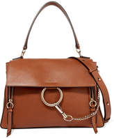 Chloé Faye Day Large Textured-leather Shoulder Bag - Tan