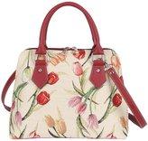 Signare Womens Fashion Canvas Tapestry Convertible Shoulder Handbag Floral Design