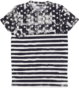 Balmain Navy Cotton T-shirts